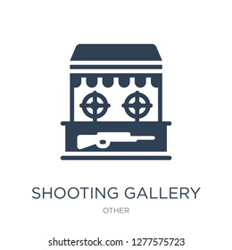 shooting gallery icon vector on white background, shooting gallery trendy filled icons from Other collection, shooting gallery vector illustration