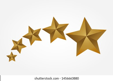 Shooting Golden Stars Flying Stars  illustration vector