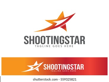 Shooting Star Logo Template Design Vector