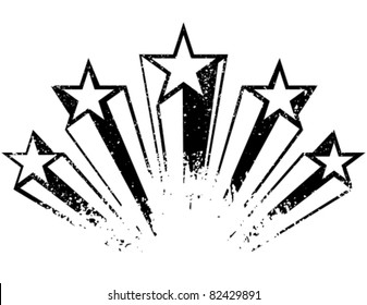 Shooting stars. Vector illustration.