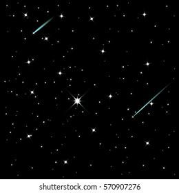 Shooting stars, vector illustration, eps10