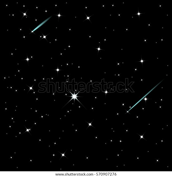Shooting Stars Vector Illustration Eps10 Stock Vector