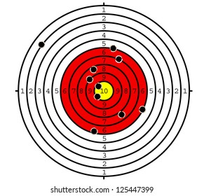 Shooting target with holes for sport or military design. Jpeg version also available in gallery