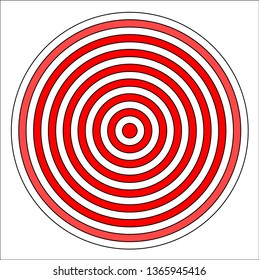 Shooting target vector icon illustration