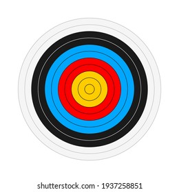 Shooting Target Vector Illustration Isolated on White