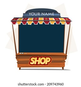 shop booth. store - vector illustration