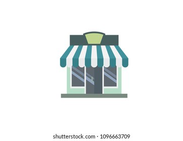 shop building simple illustration