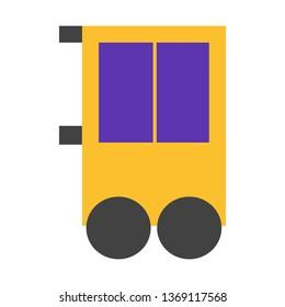 Shop, Cart, Street Feet Flat Style Icon Vector - Vector