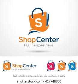 Shop Center Logo Template Design Vector
