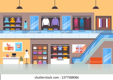 Shop cloth market store mall concept. Vector flat graphic design illustration
