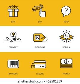 Shop / commerce icons 1