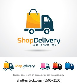 Shop Delivery Logo Template Design Vector