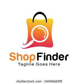Shop Finder logo design template