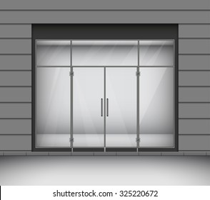 Windows and doors stock vectors images vector art shutterstock shop with glass windows and doors front view vector illustration planetlyrics Gallery