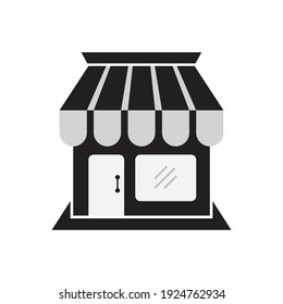 Shop Icon design. Store Building Template. isolated on white background