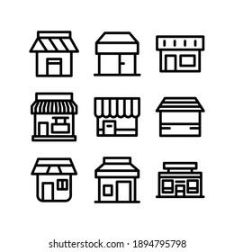 shop icon or logo isolated sign symbol vector illustration - Collection of high quality black style vector icons