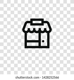 shop icon from miscellaneous collection for mobile concept and web apps icon. Transparent outline, thin line shop icon for website design and mobile, app development