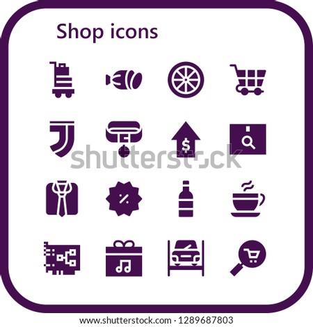 shop icon set 16
