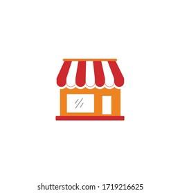 Shop icon, Shop sign and symbol vector design