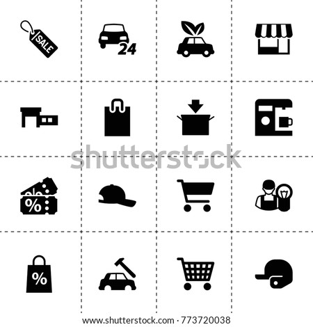 Shop Icons Vector Collection Filled Shop Stock Vector Royalty Free