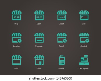 Shop Icons. Vector illustration.