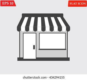Shop icon.Store vector icon