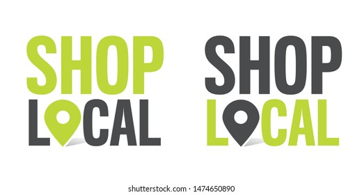 Shop local with location pin