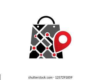 Shop Logo, Map Logo Template, Symbol, Icon