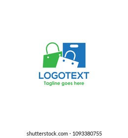 Shop logo. Online shop logo. shop bag, sopping bag icon.