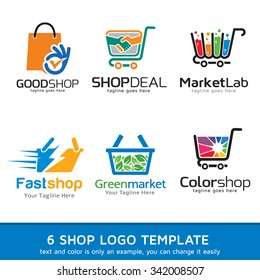 Shop Market Logo Template Design Vector