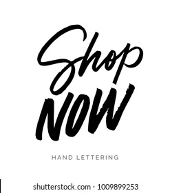 Shop Now. Hand drawn creative lettering for your designs. Can be used for promotions, ads, social media campaigns, stationary, etc.