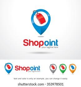 Shop Point Logo Template Design Vector