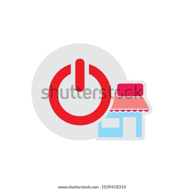 Shop Power Logo Icon Design