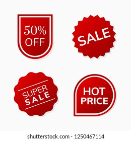 Shop sale promotion advertisement badges vector set