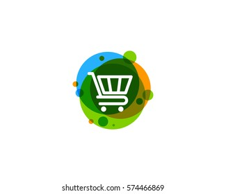 Shop And Shopping Icon Logo Design Element
