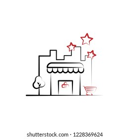 Shop, store, bussines 2 colored line icon. Simple colored element illustration. Shop, store, bussines icon design from shopping set