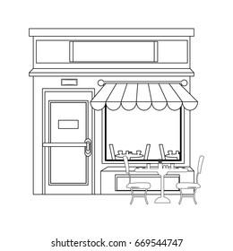 Shop store cartoon