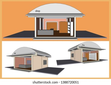Shop Store Vector & Illustration