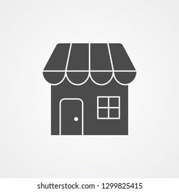 Shop vector icon sign symbol