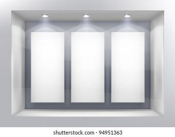 Shop window. Vector illustration.