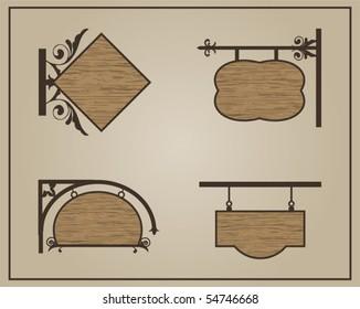 Shop wood signs