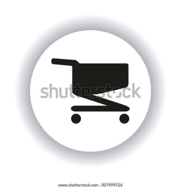 Shoping basket. icon. vector design