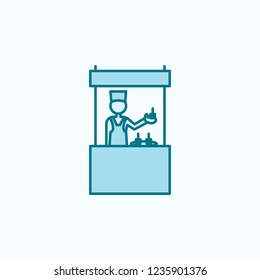 shopkeeper 2 colored line icon. Simple colored element illustration. shopkeeper outline symbol design from shopping mall set