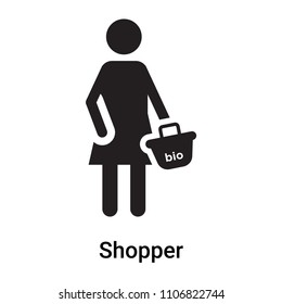 Shopper icon vector isolated on white background for your web and mobile app design, Shopper logo concept