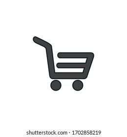shoppin basket icon vector illustration flat