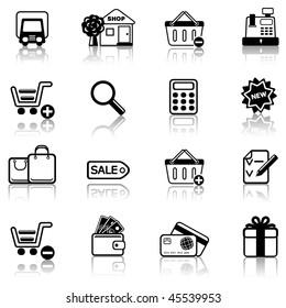 Shopping 2 icon set