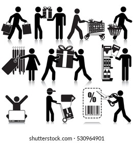 Shopping Activities Icon Set