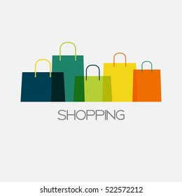 Shopping Bag Design Background. Vector Illustration EPS10