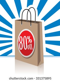 shopping bag eighty percent off, 80% off