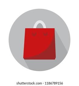 shopping bag flat icon. vector shopping illustration. supermarket sale